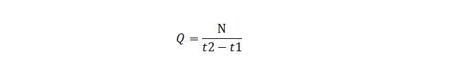 Формула расчета расхода насоса